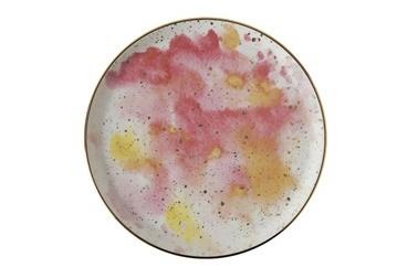 Porland Cosmos Düz Tabak Desen1 20 Cm Renkli
